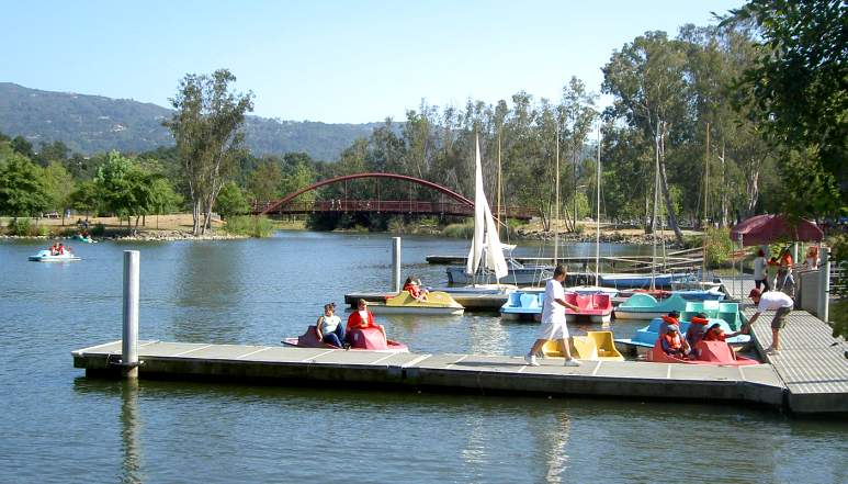 Vasona Lake boat dock