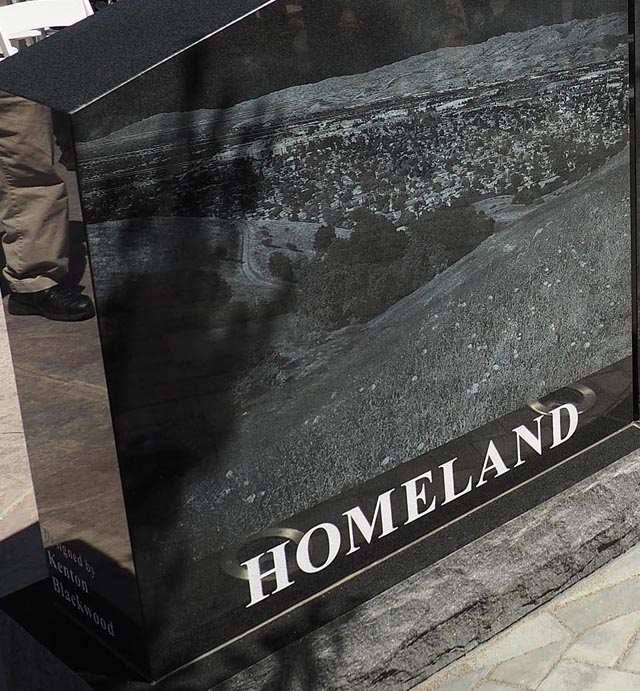 Gold Star Families Memorial, Homeland panel